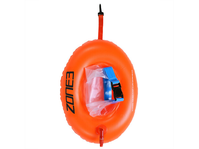 Zone3 Swim Safety Buoy Donut Bolsa seca, hi-vis orange